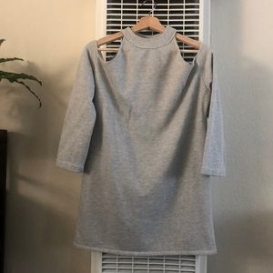 Reformation cold shoulder sweater dress mini